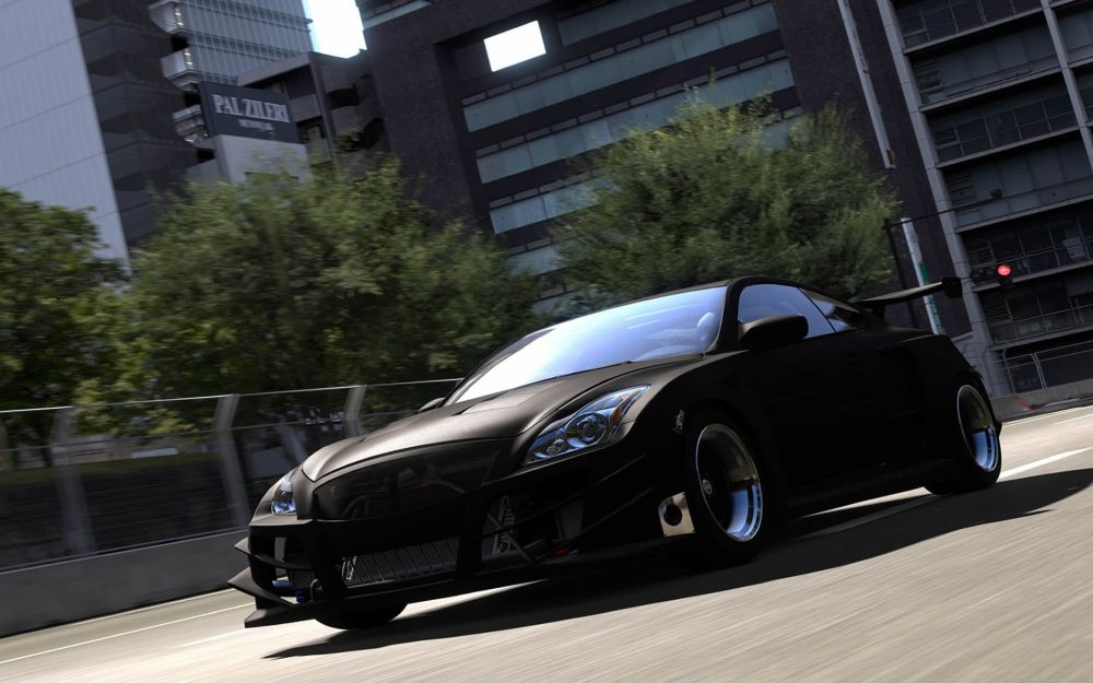 black-sports-car